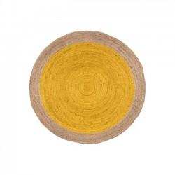 JUTE-RUG-Yellow-Natural---Natural-Border