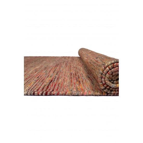 WOOL JUTE LINE NATURA 39857 RED MULTI